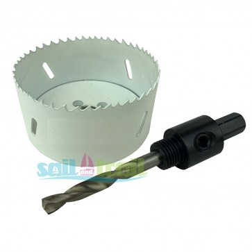 70mm Diameter Hole Cutter and Arbor Drill Kit for Gas It Body Mount Fill Point Black and White 70MM-CUT-ARBOR-31