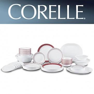 Corelle Crimson Trellis 74 piece Dinner Set COR-CRIMSON-TRELLIS-74PC-30