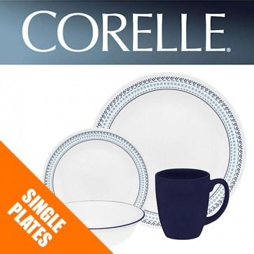 Corelle Folk Stitch Single: Plates, Bowls, Dishes, Pasta Bowls COR-FOLK-STITCH-31