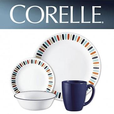 Corelle Payden 16 Piece Dinner Set Multi Coloured Block Pattern COR-PAYDEN-16PC-31