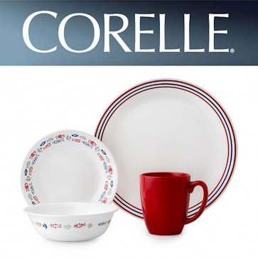 Corelle Harbor Town 16pc Dinner Set with Stoneware Mug COR-HARBOUR-TOWN-16PC-31
