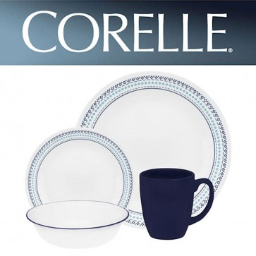 Corelle Folk Stitch 16pc Dinner Set with Stoneware Mugs COR-FOLK-STITCH-16PC-31
