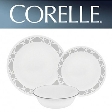 Corelle Modena 12 Piece Dinner Set Chip/Break Resistant Dinnerware COR-MODENA-12PC-30