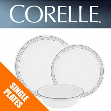 Corelle Mystic Gray Dinnerware Single Plate Bowl Dish Replacements Spares COR-MYSTIC-GRAY-31