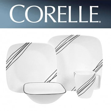Corelle Simple Sketch Square 16 Piece Dinner Set COR-SIMPLE-SKETCH-SQUARE-16PC-31