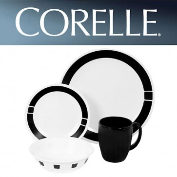 Corelle Urban Black 16 Piece Dinner Set COR-SURBAN-BLACK-16PC-31