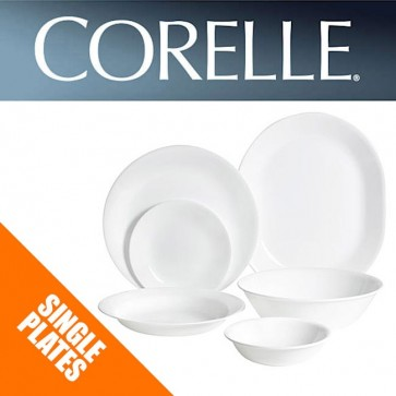 Corelle Winter Frost White Single Plates, Dishes, Bowls, Serving Platter, Divide COR-W-F-WHITE-31