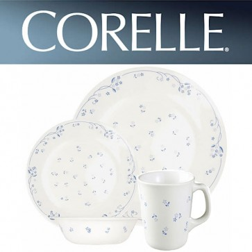 Corelle Provincial Blue 16 Piece Dinner Set with Printed Mugs COR-PROVINCIAL-BLUE-PRINTED-MUG-16PC-31