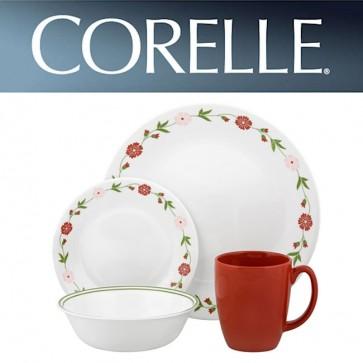 Corelle Spring Pink 16 Piece Dinner Set COR-SPRING-PINK-16PC-30