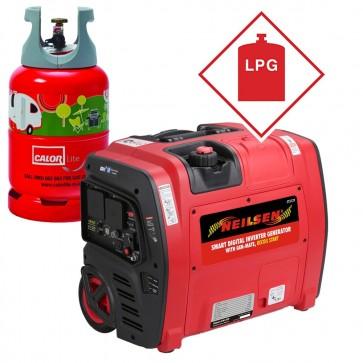 LPG/Petrol Neilsen SE2000i 2.1Kw Petrol Suitcase Inverter Generator with Wheels 2100w NEILSEN-SE2000I-LPG-31