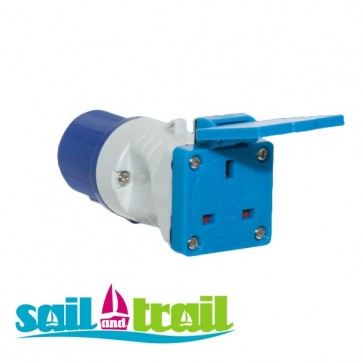 Short Conversion Generator CEE Continental Plug to 13 Amp Socket PO107S-31