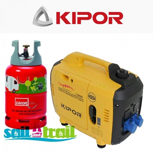 Kipor IG 2600 LPG Suitcase Inverter Generator - On Bottle Kit