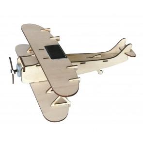 Solar Powered Biplane Kit SOToyBiplane-20