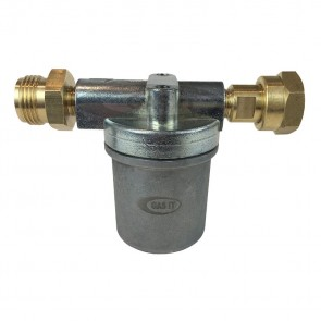 Bulkhead Regulator High Capacity Vapour Filter (W20 Male in x W20 Female Out) GI-BH-FLTR-20