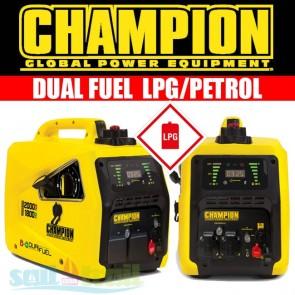 Champion 82001i-E-DF 2Kw Dual Fuel LPG/Petrol Inverter Suitcase Generator CHAMP-82001I-DF-GEN-20