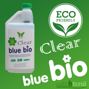 Clear Blue Bio Portable Toilet Fluid 1L Biodegradable Eco Friendly for Camping Toilets CLEAR-B-Bio-20