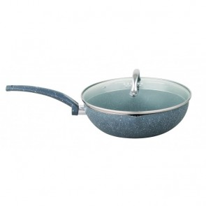 Cooklites Petra stone 30cm Non Stick Wok With Glass Lid RFW030 COOKLITE-WOK-30CM-20