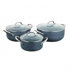 Cooklites Petra Stone Stock Pot Set of 3 RFT2028 COOKLITE-SP-3PC-20