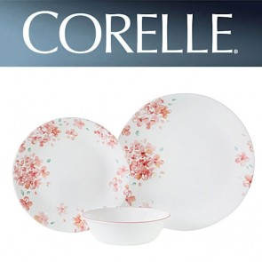 Corelle Adoria 12 Piece Dinner Set Pink Floral Design COR-ADORIA-12PC-20