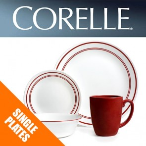Corelle Classic Cafe Red Dinnerware Single Plate Bowl Dish Replacements Spares COR-CLASSIC-CAFE-RED-20