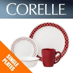 Corelle Crimson Trellis Single: Plates, Bowls, Dishes, Side Plates COR-CRIMSON-TRELLIS-20