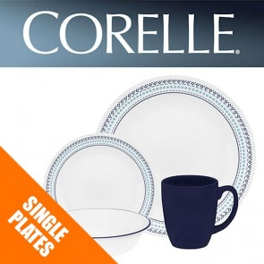 Corelle Folk Stitch Single: Plates, Bowls, Dishes, Pasta Bowls COR-FOLK-STITCH-20