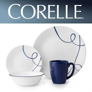 Corelle Lia 16 piece Vitrelle Break Resistant Dinner Set COR-LIA-16PC-20