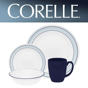 Corelle Folk Stitch 16pc Dinner Set with Stoneware Mugs COR-FOLK-STITCH-16PC-20