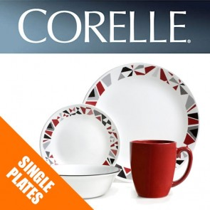 Corelle Mosaic Red Single: Dinner and Luncheon Plates, Bowls, Dishes Side Plates COR-MOSAIC-RED-20