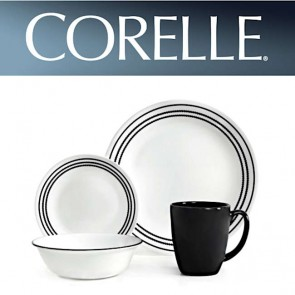 Corelle Onyx Black 16pc Dinner Set COR-ONYX-BLACK-16PC-20