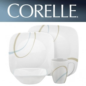 Corelle Sand and Sky Square 16 Piece Dinner Set COR-SKY-SAND-SQAURE-16PC-20