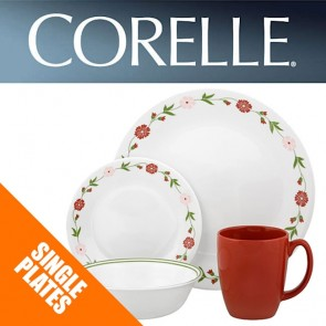Corelle Spring Pink Single Plates: Dinner, Luncheon, Side, Bowls Dishes COR-SPRING-PINK-20