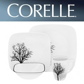 Corelle Timber Shadows 16 Piece Square Dinner Set COR-TIMER-SHADOWS-16PC-20