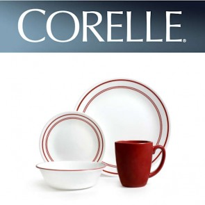 Corelle Classic Cafe Red 16 Piece Dinner Set COCOLCCRed16Pc-20
