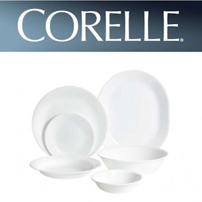 Corelle Winter Frost White 26 Piece Dinner Set | Durable Dishwasher Safe Dinnerware COR-WIN-FROST-WHITE-26PC-20