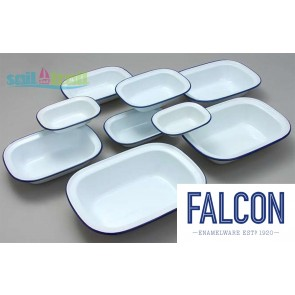 Falcon White Vitreous Enamel Oblong Bake Oven Pie Dish PEN-FAL-PIE-DISH-20
