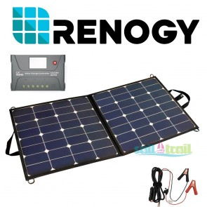 Renogy 100w Light Weight Fold Up Portable Solar Panel Kit + 10A Charge Controller and Charging Leads REN-100W-FOLD-UP-KIT-20