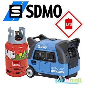 SDMO Inverter iPRO 3000 Silent Generator LPG Version SDMO-PRO-3000-LPG-20