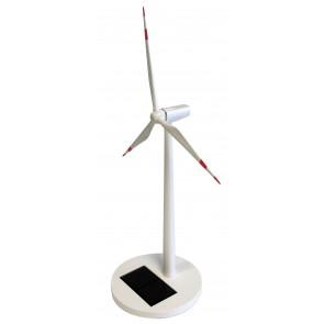 Solar Powered Wind Turbine with Red Blade Tips SOToyTurbine-20