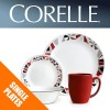 Corelle Mosaic Red Single: Dinner and Luncheon Plates, Bowls, Dishes Side Plates