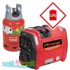 LPG/Petrol Neilsen SE2000iE Electric Start 2.1Kw Petrol Suitcase Inverter Generator with Wheels 2100w
