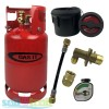 Gas It 6kg Refillable LPG Bottle Cylinder + External Fill Kit with Black Filler + POL Adaptor