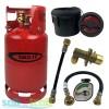 Gas It 6kg Refillable LPG Bottle Cylinder + External Fill Kit with Black Filler + Pigtail