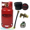 Gas It 6kg Refillable LPG Bottle Cylinder + External Fill Kit with Black Filler