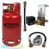 Gas It 6kg Refillable LPG Bottle Cylinder + In-Locker Filler Point + Pigtail