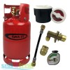 Gas It 6kg Refillable LPG Bottle Cylinder + External Fill Kit with White Filler +  POL Adaptor