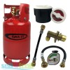 Gas It 11kg Refillable LPG Bottle Cylinder + External Fill Kit with White Filler + Pigtail