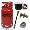 Gas It 6kg Refillable LPG Bottle Cylinder + External Fill Kit with White Filler