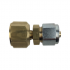Straight Compression Fitting 3/4-16UNF/SAE to 8mm Thermoplastic Pipe