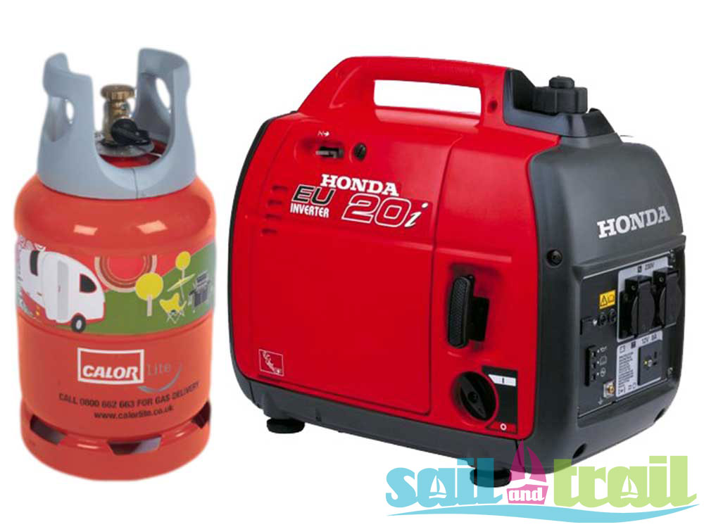 Honda EU20i LPG Suitcase Inverter Generator - On Generator Kit - Sail and Trail
